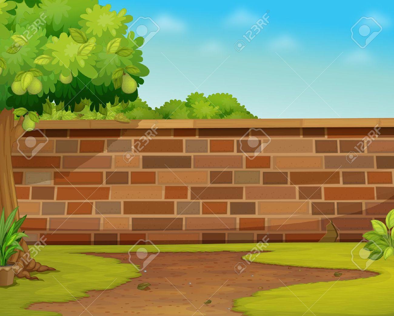 Garden Wall Clipart.