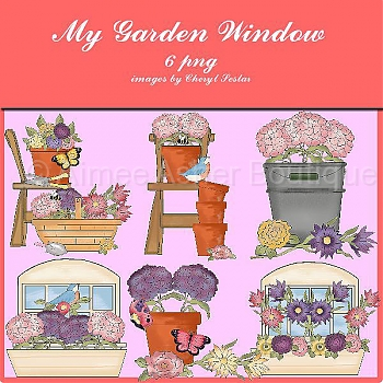 My Garden Window :: Clipart and Graphics :: Aimee Asher Boutique.