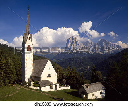 Stock Photo of Italy Dolomites Val Gardena djh53833.