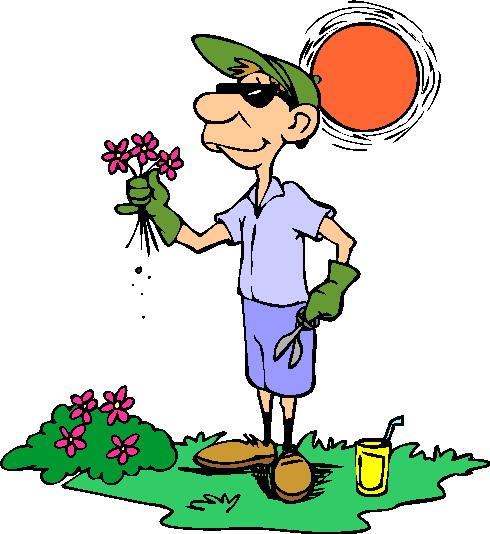 Indian gardener clipart.