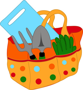 Gardening clipart graphics of gardeners and tools 3.