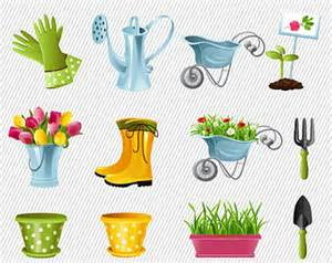 Garden Equipment Clip Art.