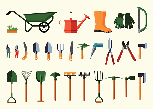Garden equipment clipart.