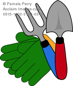Gardening Gloves Clip Art #LwNs5r.