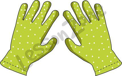 Garden gloves clipart.