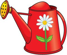 Watering Can Gardening Tools Clipart.