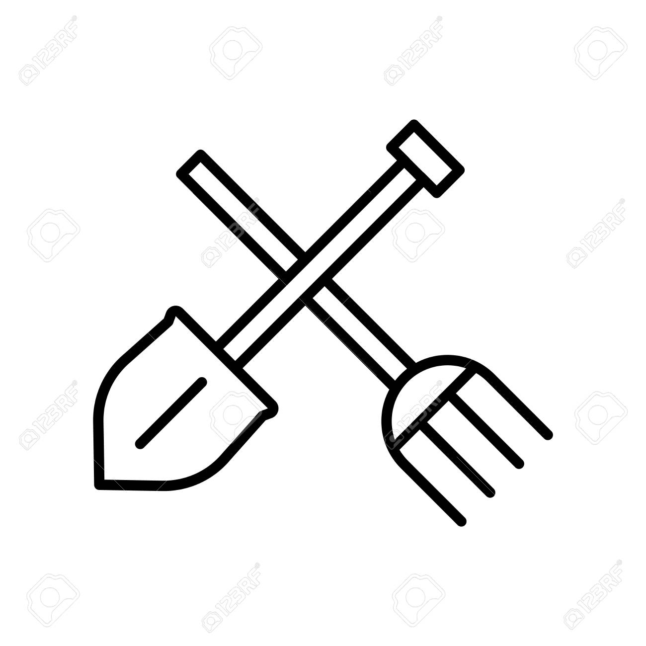 Gardening tools icon vector isolated on white background for...