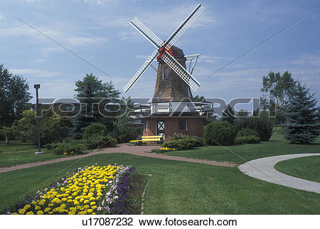 Stock Photo of Thunder Bay, Canada, Ontario, Windmill at the.
