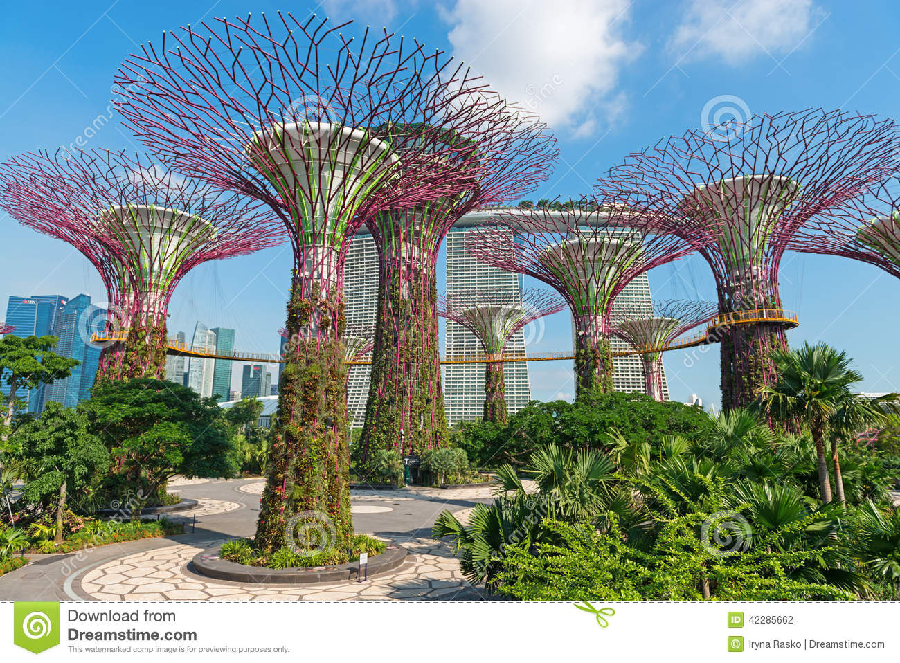Park Gardens By The Bay In Singapore Editorial Photo.
