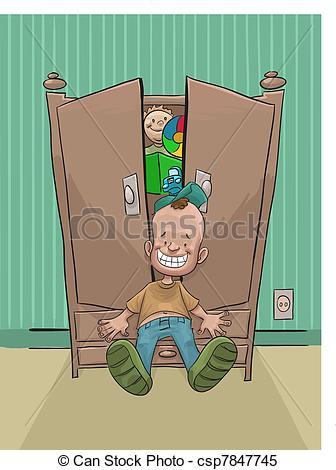 Vector Illustration of Wardrobe room. Furniture. Vector.