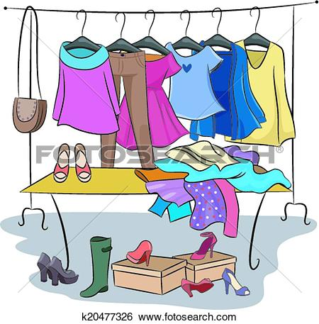Clip Art of Clothes and Accessories k20477326.