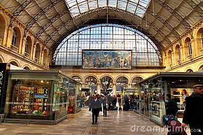 Gare De L'Est Royalty Free Stock Image.
