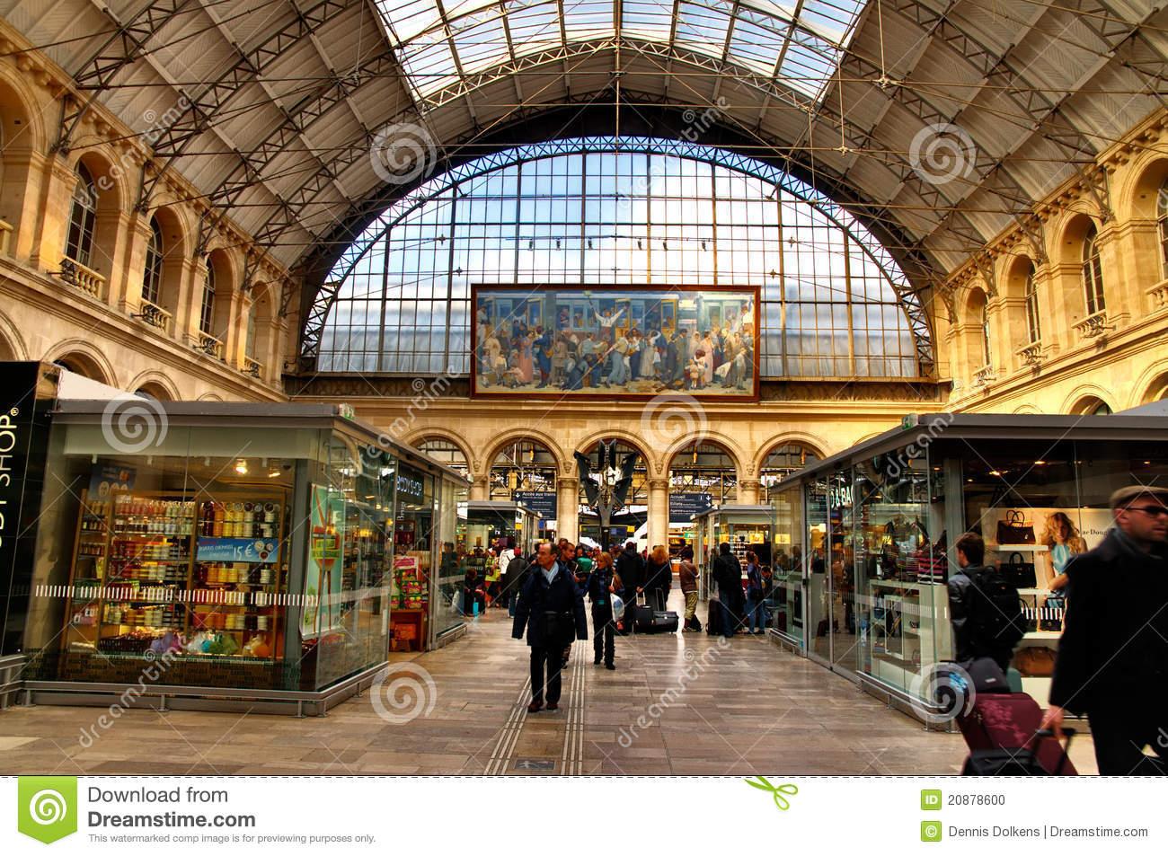 Interior Of Gare De L'Est Editorial Image.