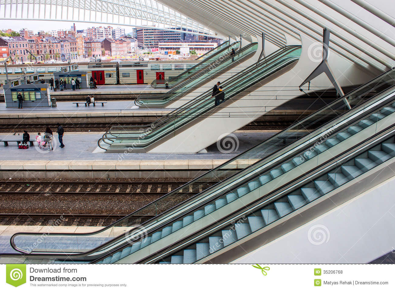 Guillemins Station In Liege, Belgium Editorial Photography.