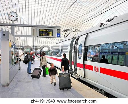 Stock Photography of Liege, Belgium. Main Railway Station.