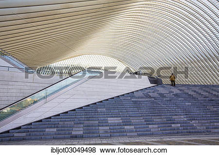 """Pictures of """"Railway station of Liege, Gare de Liege."""
