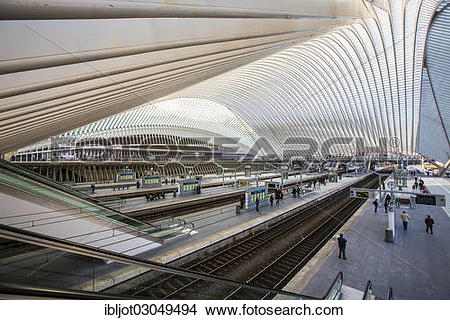 "Stock Photo of ""Railway station of Liege, Gare de Liege."
