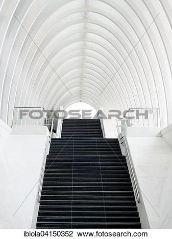 Stock Photo of Staircase in the station La Gare Liege.