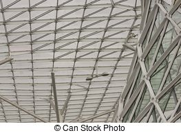 Stock Photo of Roofing detail of Oriente Station in Lisbon, on.