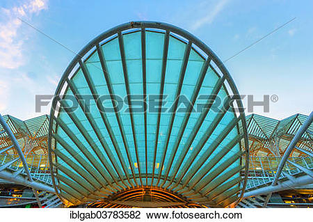 "Stock Photo of ""Gare do Oriente train station, Parque das Nacoes."