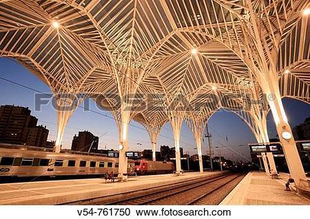 Stock Photography of Oriente Railway Station Gare do Oriente.