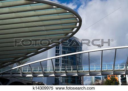 Stock Image of A column and structure at Gare do oriente Train.