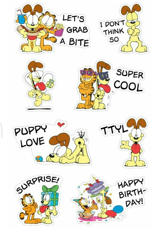 Garfield and Odie stickers.