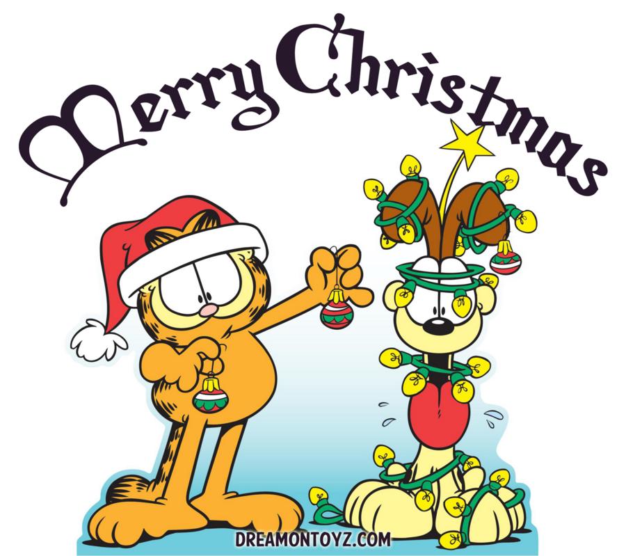 Garfield Christmas clipart.