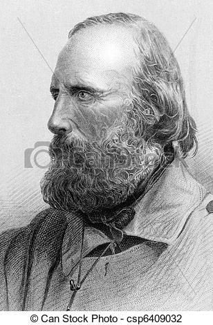 Clip Art of Giuseppe Garibaldi (1807.