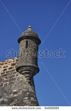A Garita, Or Guard Tower, Of Castillo De San Cristobal In San Juan.