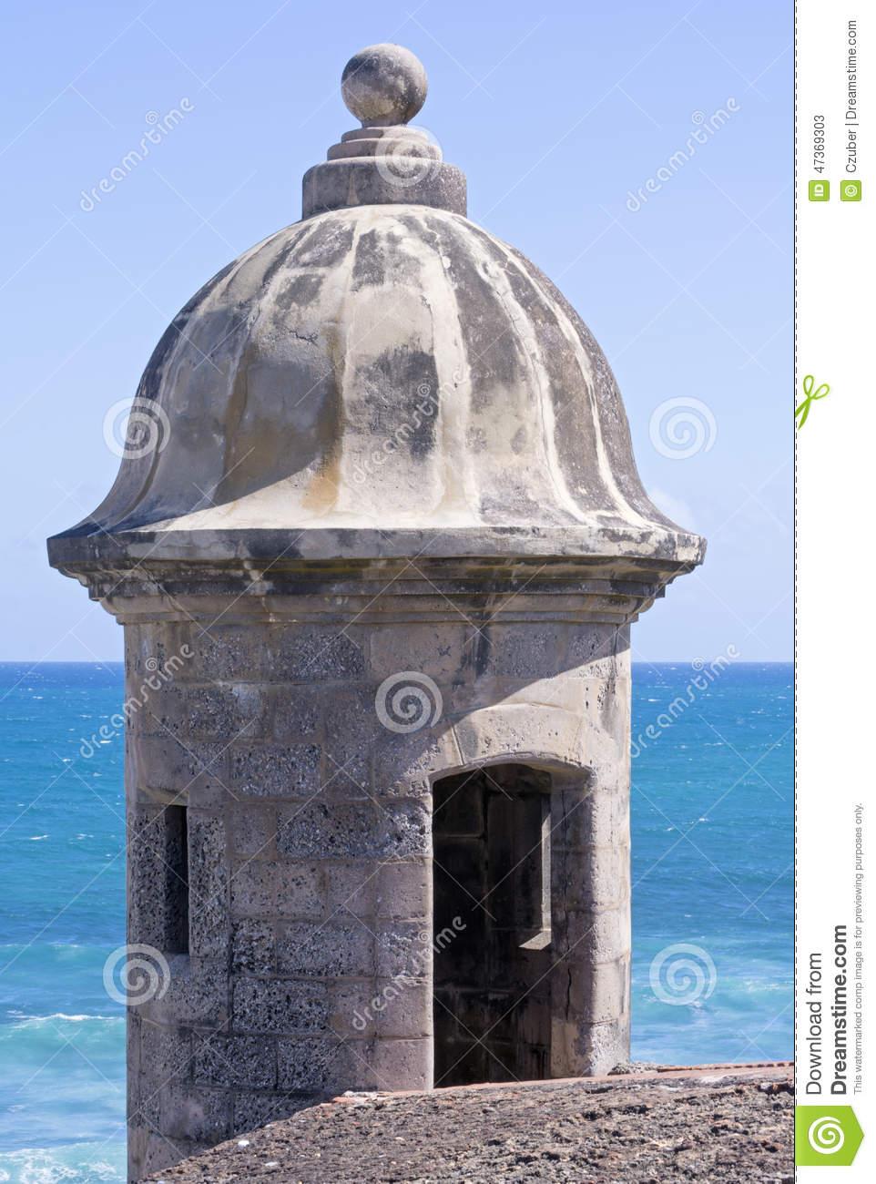 Garita At Castillo De San Cristobal In San Juan Stock Photo.