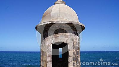 Garita In Old San Juan Stock Photo.