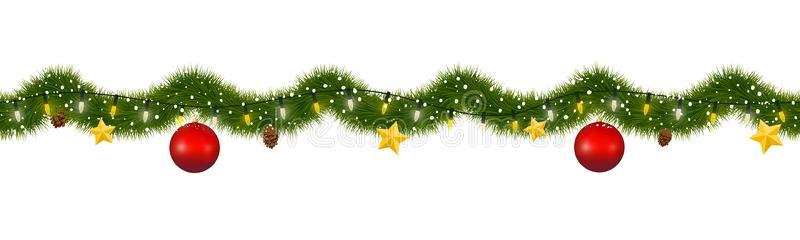 Garland Christmas Border Clipart.