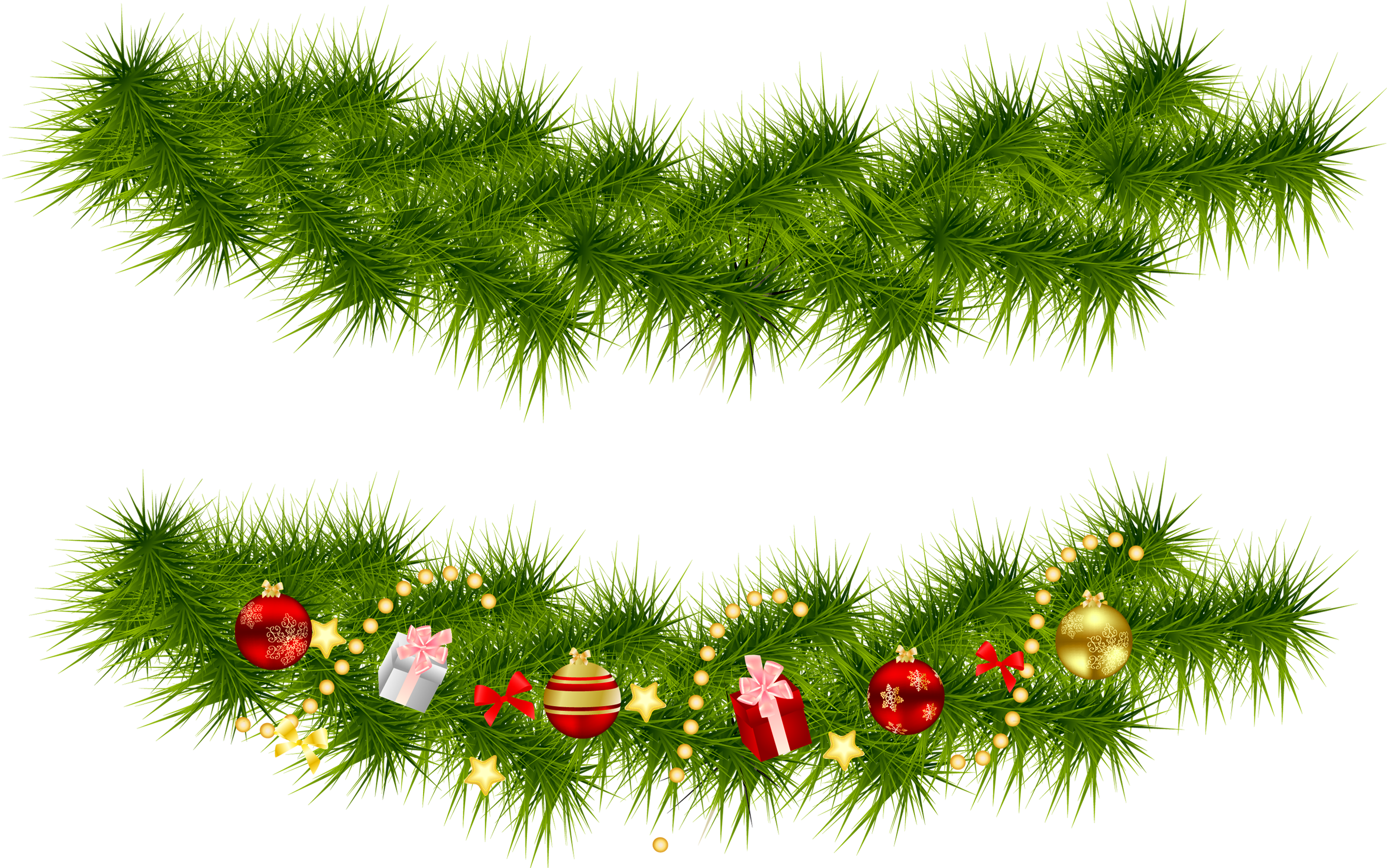 Garland Christmas Wreath Clip art.