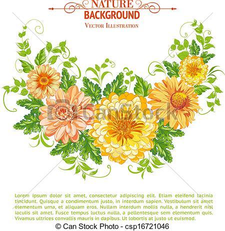 EPS Vector of Chrysanthemum garland..