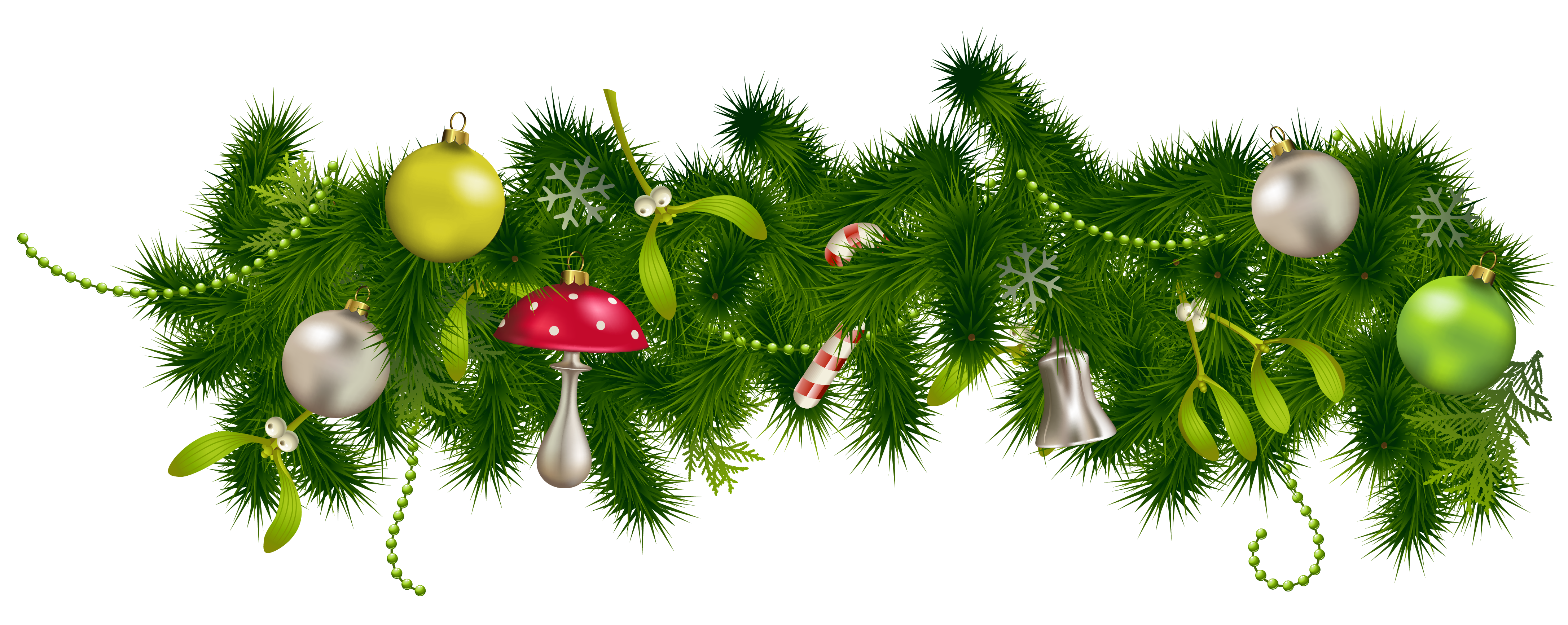 Free christmas garland clipart.