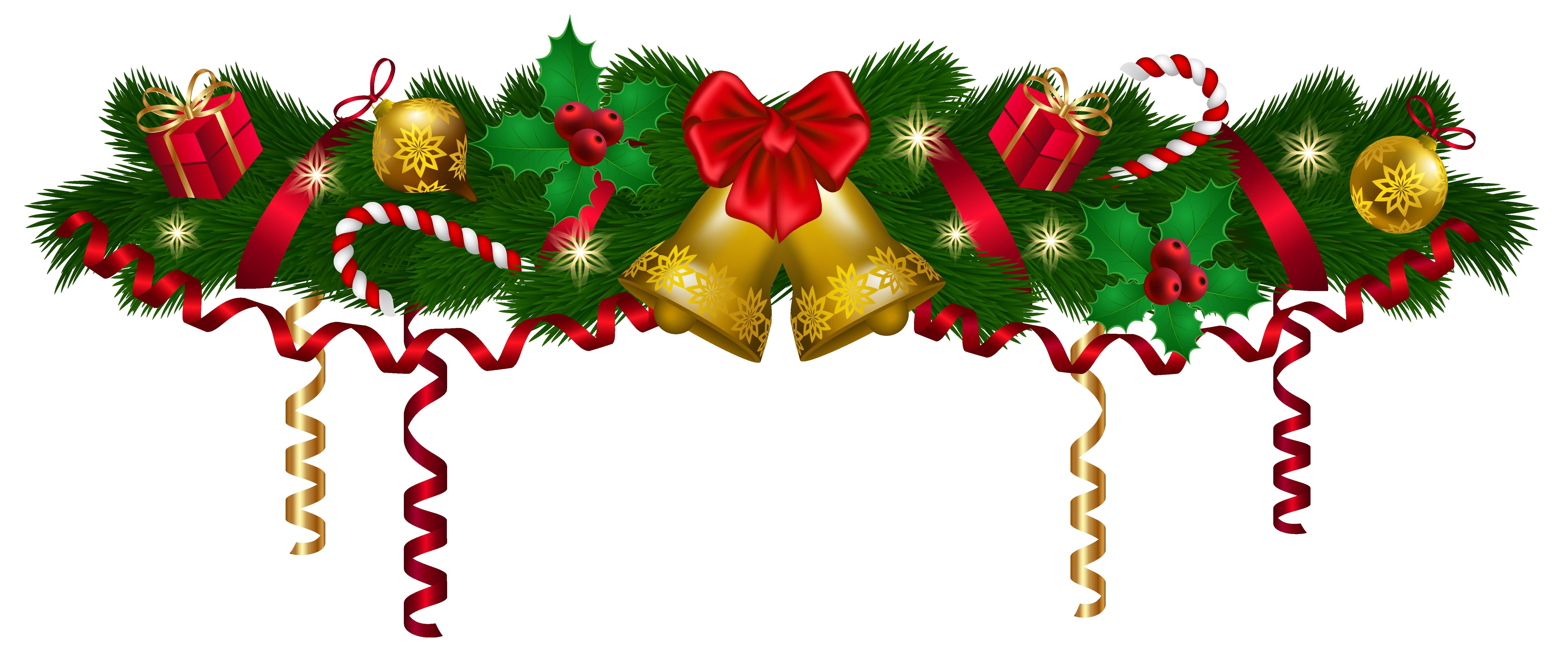 Christmas Deco Garland PNG Clip Art Image.