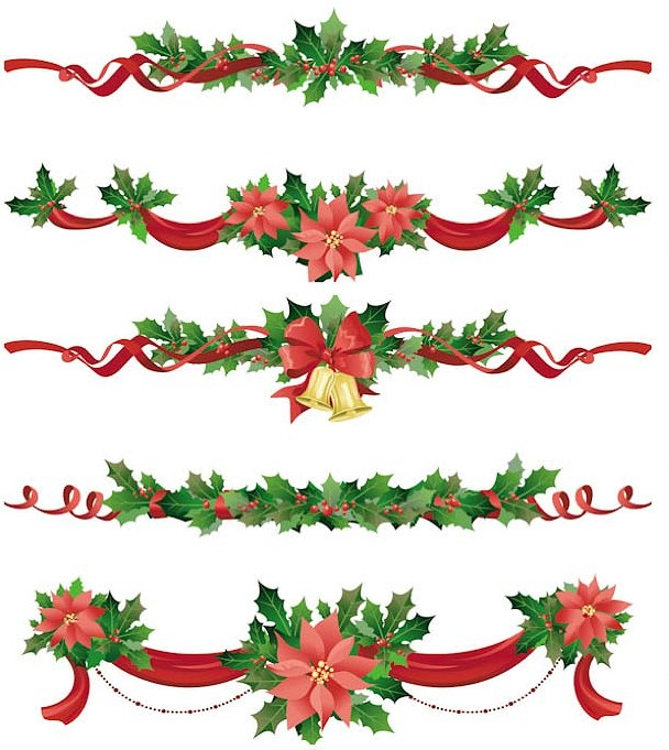 Rose Garland Clipart.
