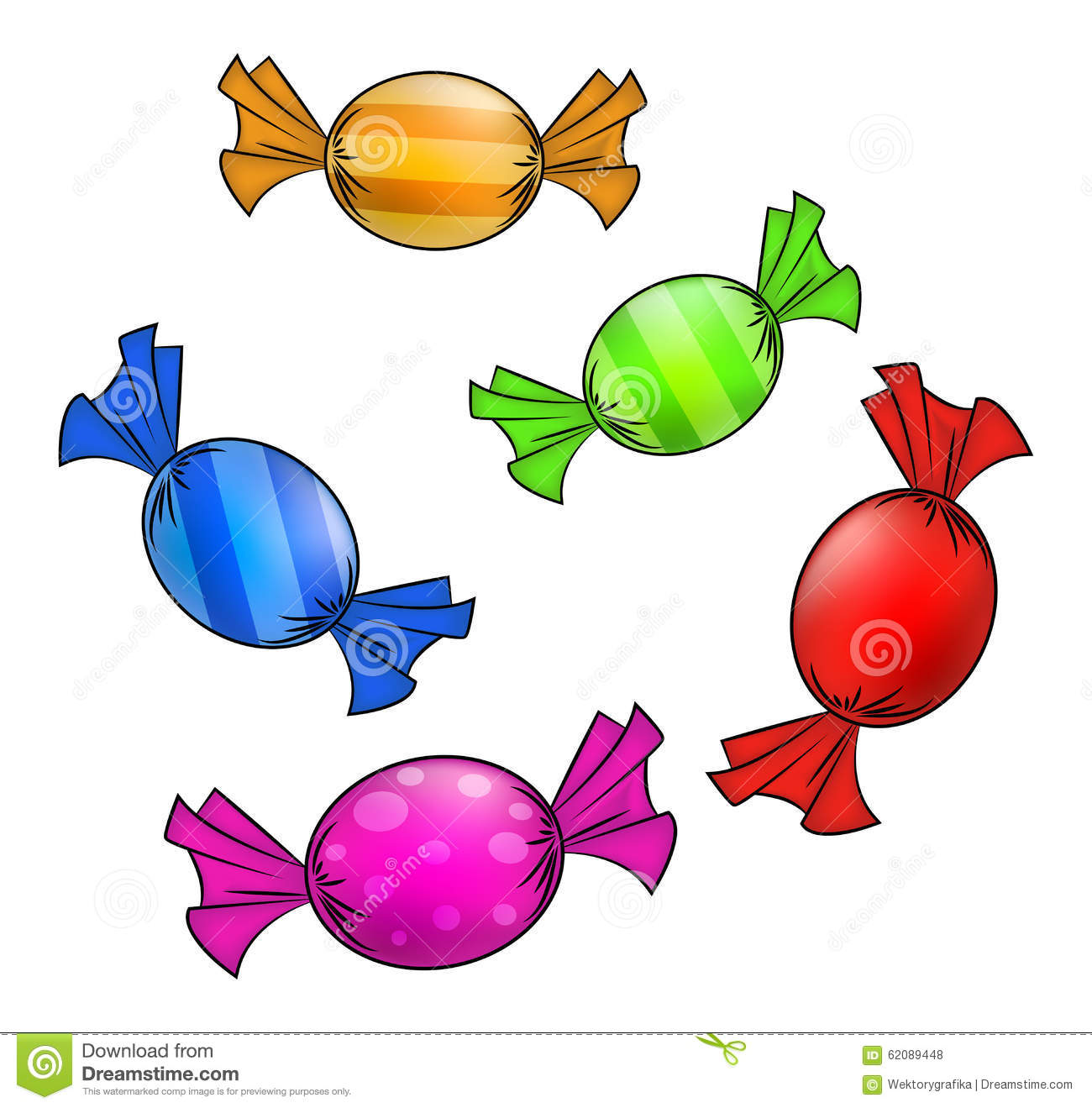 Garland wrapped people clipart.