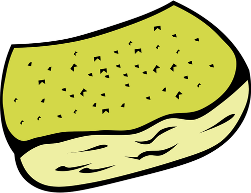 Garlic bread vector clip art.