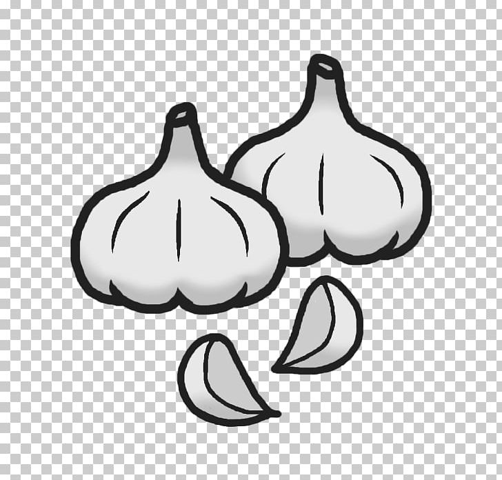 Black And White Food Garlic PNG, Clipart, Black And White.