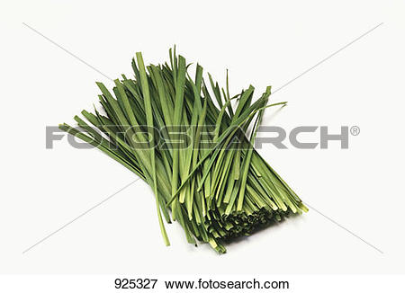 Picture of Fresh ramsons (wild garlic) leaves, cut into strips.