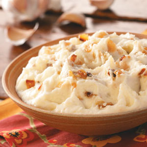 Texas Garlic Mashed Potatoes Recipe.