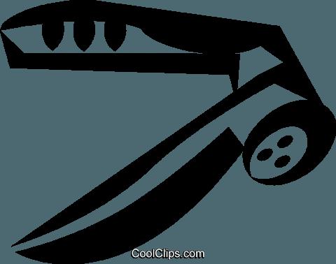 garlic press Royalty Free Vector Clip Art illustration.