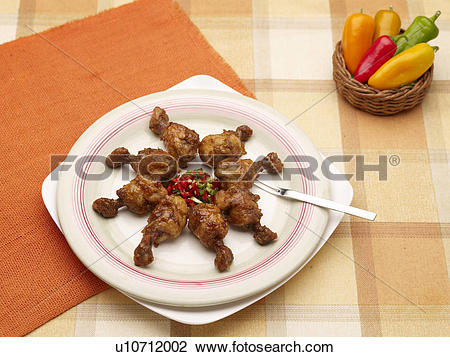 Stock Photo of dishes, Food styling, dish, dishes, dish, Chicken.