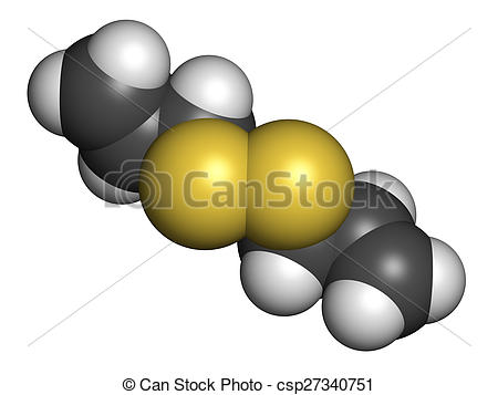 Stock Illustrations of Diallyl disulfide garlic molecule. One of.