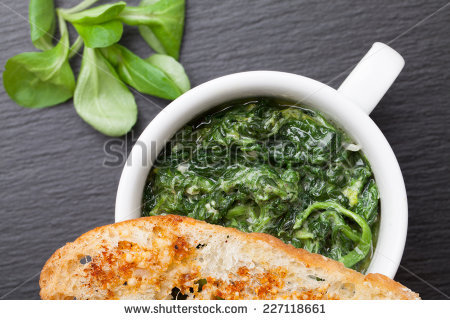 Sauteed Spinach Stock Photos, Royalty.