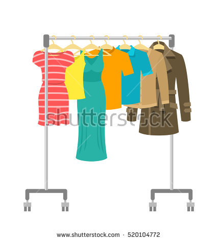 Clothes Rack Stock Photos, Royalty.