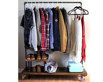 garment rack.
