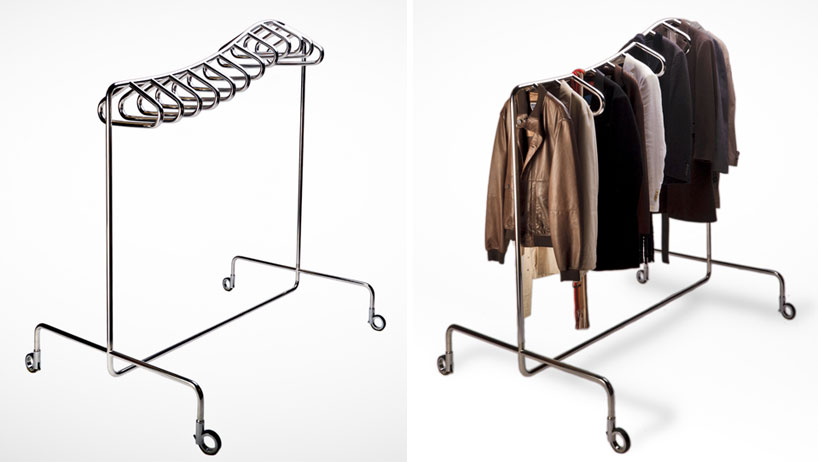 Garment Rack of Clothes Clip Art.